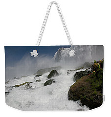 Weekender Tote Bag featuring the photograph Coming Close To Niagara Falls by Jeff Folger