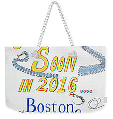 Coming Soon Weekender Tote Bag