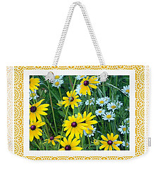 Weekender Tote Bag featuring the photograph Coming Up Daisies Orange by Shirley Moravec