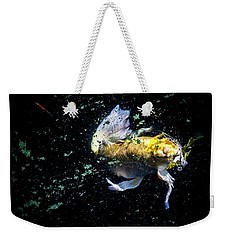 Weekender Tote Bag featuring the photograph Coming Up For Air by Eric Christopher Jackson