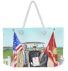 Weekender Tote Bag featuring the painting Commissioning by Betsy Hackett