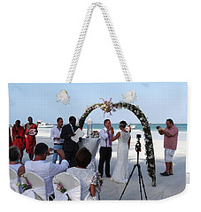 Commitment On The Beach In Kenya Weekender Tote Bag