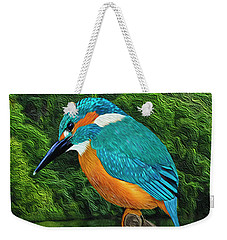 Common Blue Kingfisher Weekender Tote Bag