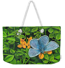 Common Blue On Bird's-foot Trefoil Weekender Tote Bag