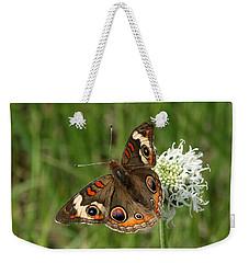 Common Buckeye Butterfly On Wildflower Weekender Tote Bag