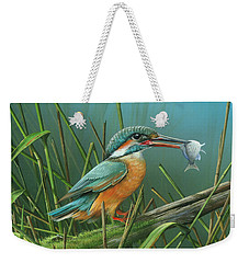 Common Kingfisher Weekender Tote Bag