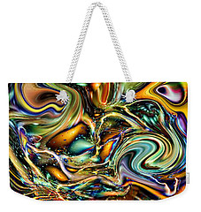 Commotion In The Motion Vii Weekender Tote Bag by Jim Fitzpatrick