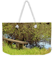 Weekender Tote Bag featuring the photograph Communing With Nature by Art Block Collections