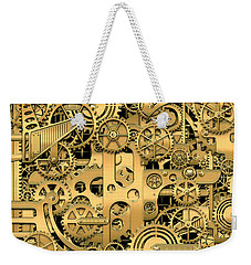 Complexity And Complications - Clockwork Gold Weekender Tote Bag