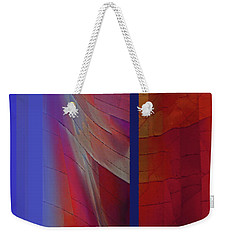 Weekender Tote Bag featuring the digital art Composition 0310 by Walter Fahmy