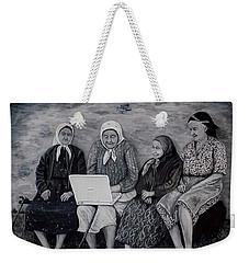 Computer Class Weekender Tote Bag by Judy Kirouac