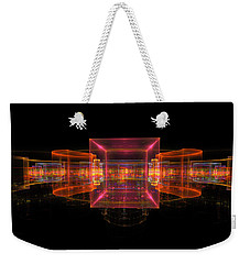 Computer Generated 3d Abstract Fractal Flame Modern Art Weekender Tote Bag by Keith Webber Jr
