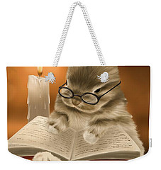 Weekender Tote Bag featuring the painting Concentration  by Veronica Minozzi