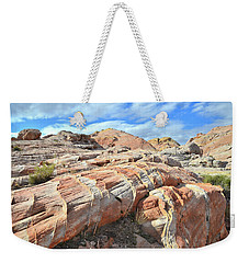 Concentric Color In Valley Of Fire Weekender Tote Bag
