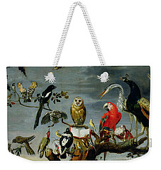 Concert Of Birds Weekender Tote Bag by Frans Snijders