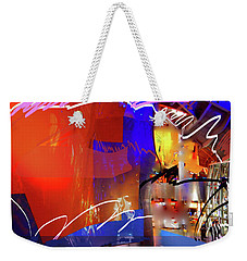 Weekender Tote Bag featuring the digital art Concert Stage by Walter Fahmy