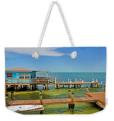 Conch Key Blue Cottage 3 Weekender Tote Bag