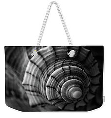 Conch Shell In Black And White Weekender Tote Bag