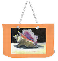Weekender Tote Bag featuring the painting Conch Shell by Susan Thomas