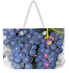 Weekender Tote Bag featuring the painting Concord Grape by Ivana Westin