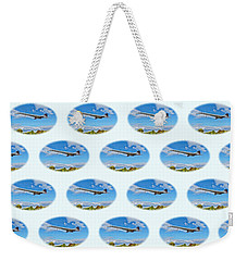 Weekender Tote Bag featuring the photograph Concorde On Finals - Tiled by Paul Gulliver