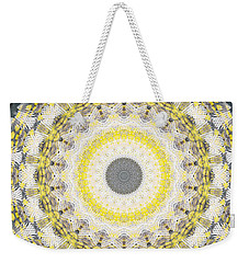 Concrete And Yellow Mandala- Abstract Art By Linda Woods Weekender Tote Bag