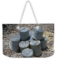 Concrete Rolls Weekender Tote Bag by Suhas Tavkar