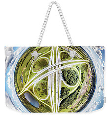 Weekender Tote Bag featuring the photograph Concrete Spaghetti by Randy Scherkenbach