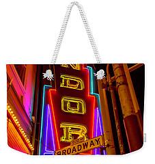 Condor Neon On Broadway Weekender Tote Bag