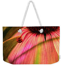 Cone Flower And The Ladybug Weekender Tote Bag