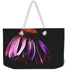 Weekender Tote Bag featuring the photograph Cone Flower by Jessica Manelis