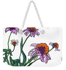 Cone Flowers Weekender Tote Bag by Jamie Downs