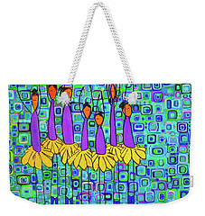 Weekender Tote Bag featuring the painting Coneflower Ballet by Donna Howard