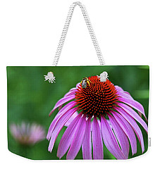Weekender Tote Bag featuring the photograph Coneflower by Judy Vincent