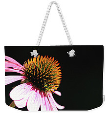 Weekender Tote Bag featuring the photograph Coneflower by Trina Ansel