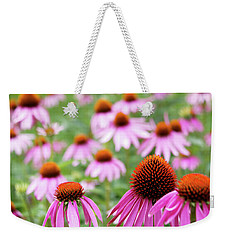 Weekender Tote Bag featuring the photograph Coneflowers by David Chandler