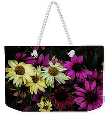 Weekender Tote Bag featuring the photograph Coneflowers by Jay Stockhaus