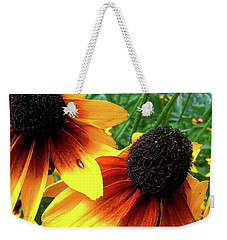 Weekender Tote Bag featuring the photograph Coneflowers by Robert Knight