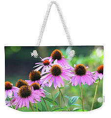 Weekender Tote Bag featuring the photograph Coneflowers by Trina Ansel