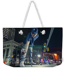Weekender Tote Bag featuring the photograph Coney Anyone? by Nicholas Grunas