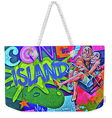 Weekender Tote Bag featuring the photograph Coney Island Fun by Joan Reese