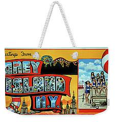 Coney Island Post Card Weekender Tote Bag