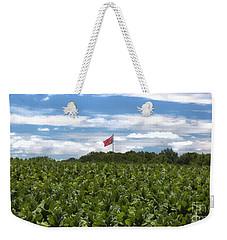 Confederate Flag In Tobacco Field Weekender Tote Bag