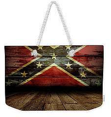 Confederate Flag On Wall Weekender Tote Bag