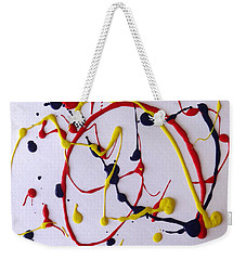 Weekender Tote Bag featuring the painting Confetti #1 by Fred Wilson