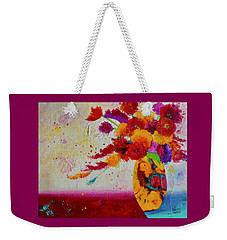 Confetti Weekender Tote Bag by Nancy Jolley