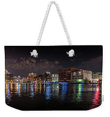 Confluence At Night Weekender Tote Bag by Randy Scherkenbach