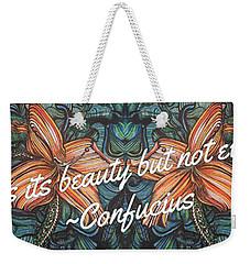 Confucius Beauty  Weekender Tote Bag