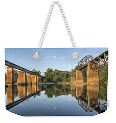 Congaree River Rr Trestles - 1 Weekender Tote Bag by Charles Hite