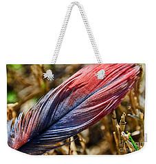 Congo African Grey Feather Weekender Tote Bag